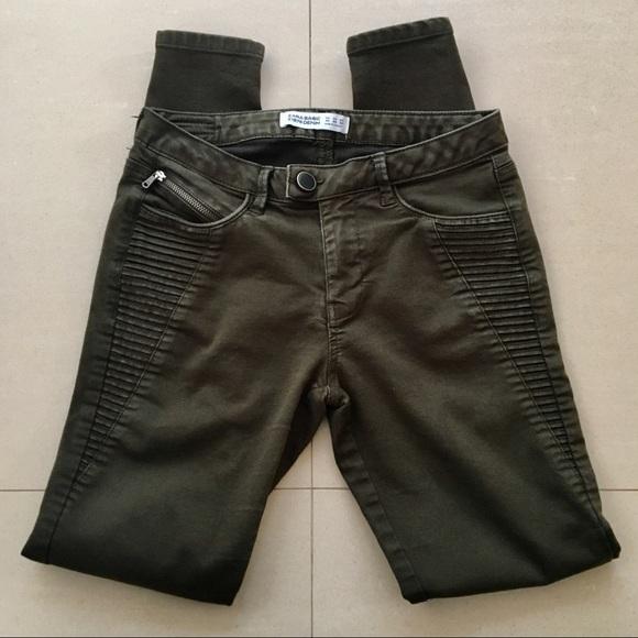Zara Basic Brown Denim skinny jeans, Sz 4